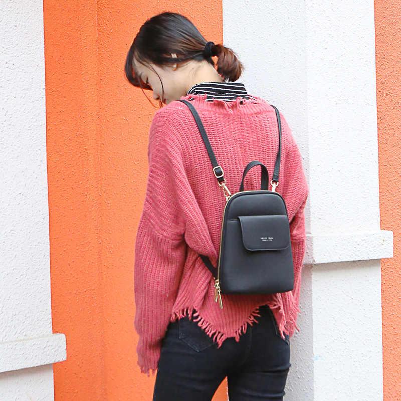 Selamanya Muda Wanita Ransel Fashion Ransel Wanita Lembut Kulit Tas Wanita Satchel Mini Mochila Tas Berkualitas Tinggi