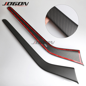Image 4 - Matte & Glossy Carbon For Tesla Model 3 2017  2020 Car Central Console Side Panel Trim Decoration Anti scratch