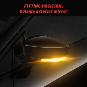 Image 5 - 2pcs Dynamic Turn Signal Light LED Side Wing Rearview Mirror Indicator Blinker Light For Ford Focus 2 3 Mk2 Mk3 Mondeo Mk4