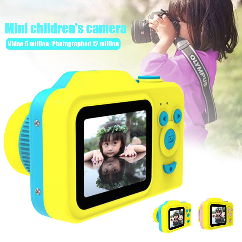 2 Inch Toy HD Camera Digital For Kids Cartoon Cute Children ABS Mini Toys With DIY Stickers Birthday Gift Creative