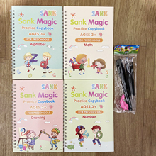 Reusable Copybook For Calligraphy Books Practice Copybook Children Kids Chinese Four Books With Pen Reusable Handwrite Book New