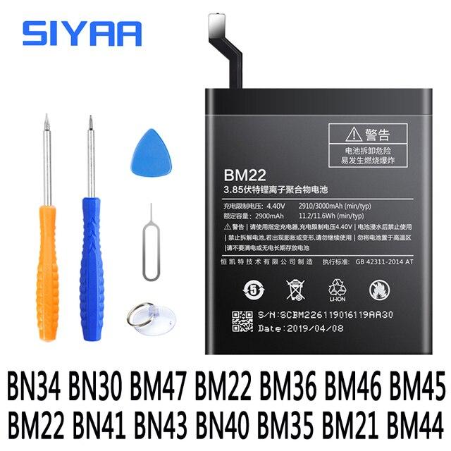 BN34 BN30 BM47 BM22 BM36 BM46 BM45 BM22 BN41 BN43 Batterie Für Xiaomi Redmi 5A 4A 3 3S 4X mi 5 5S Mi5 Mi5S Redmi Note2 3 Batterie