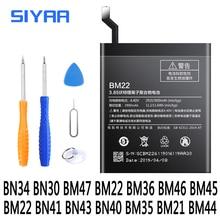 BN34 BN30 BM47 BM22 BM36 BM46 BM45 BM22 BN41 BN43 Batterie Pour Xiaomi Rouge mi 5 un 4A 3 3S 4X mi 5 5S Mi5 Mi5S Redmi Note2 3 Batterie