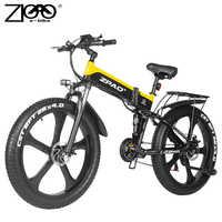 ZPAO Retro bicicleta eléctrica gordo neumático de Bicicleta electrónica bicicleta eléctrica plegable E bicicleta 1000W Bicicleta electrónica barata Elektro bicicleta eléctrica