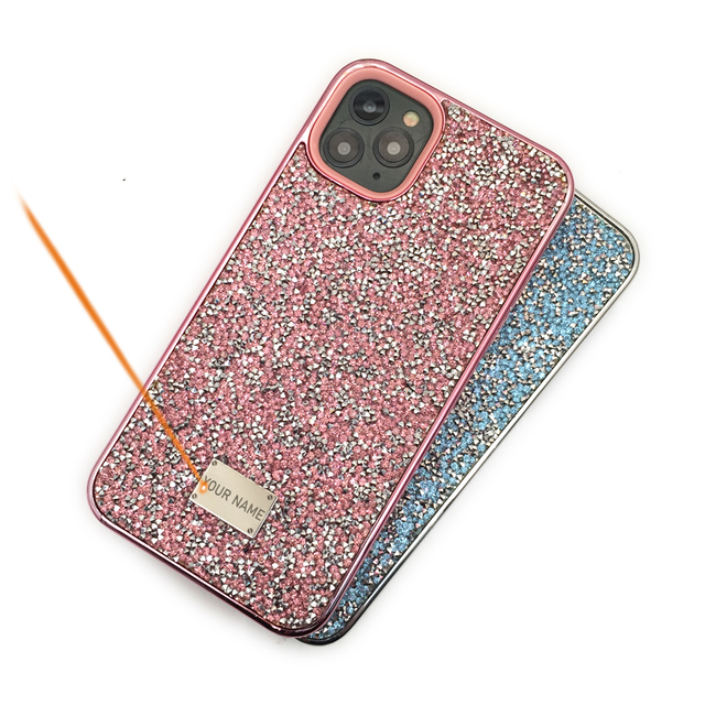 Blinking Rhinestone Phone Case For iPhone 11 Pro Max CKHB DD 2 in 1 Diamond Glitter Women Back Case For iphone Xs Max Cases