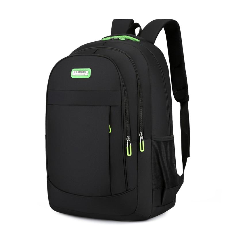 Classic Men Multifunctional Travel Backpack High Density Oxford Cloth Men Bag S-shaped Widened Shoulder Straps Men's Backpack