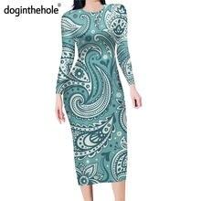 Doginthehole сексуальное облегающее платье для женщин богемное
