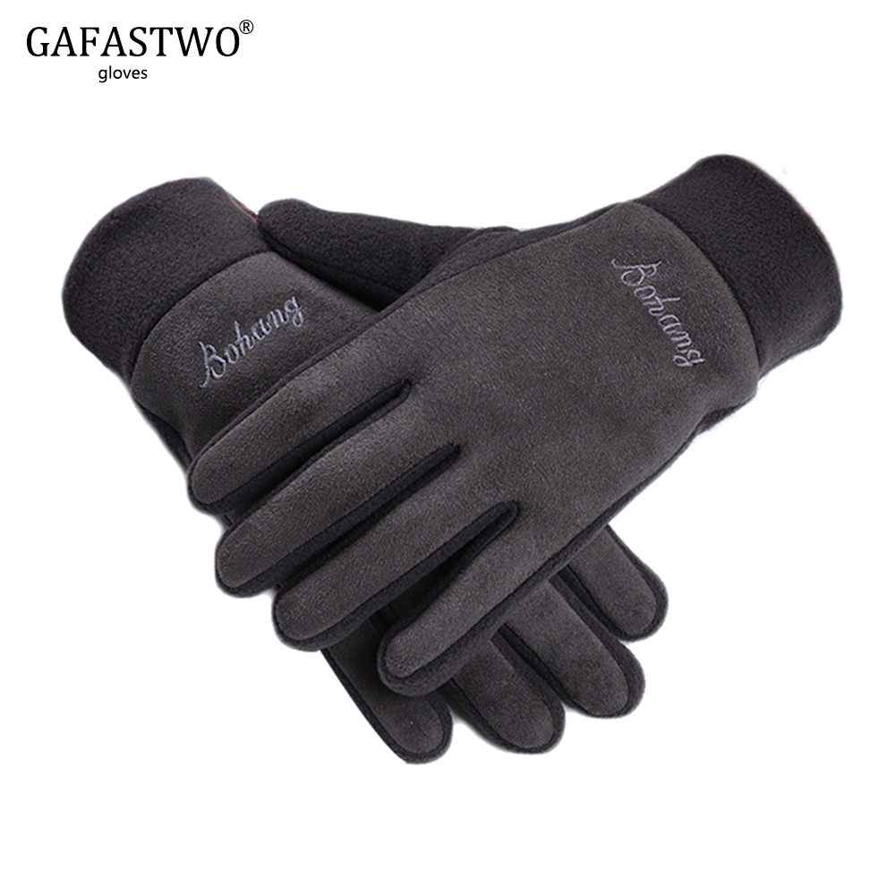 New Fleece Suede Mens Gloves Ladies Outdoor Leisure Riding Driving Warm Windproof Gloves