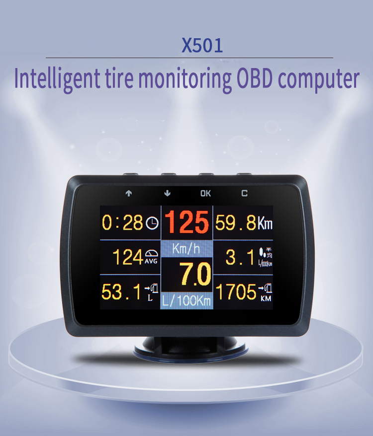 CXAT X501C Multi Functional Smart Car OBD HUD Digital Meter Fault Code Alarm Display