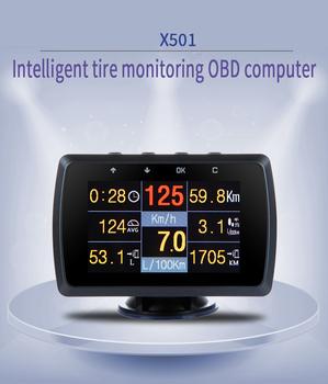 CXAT X501C wielofunkcyjna inteligentny samochód OBD HUD miernik cyfrowy kod błędu alarm z ekranem tanie i dobre opinie