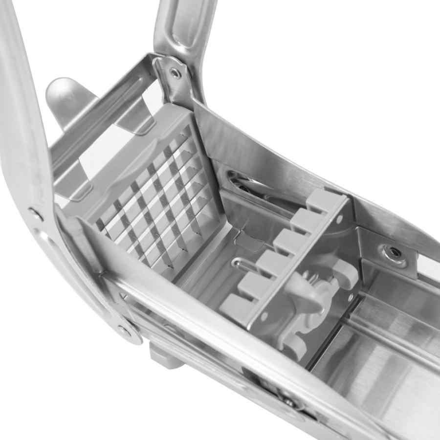 สแตนเลส French Fries เครื่องตัดมันฝรั่งเครื่องตัดชิป Chopper Maker ภาษาฝรั่งเศสคำเครื่องตัดมันฝรั่งทอด