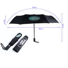 1pcs wind Resistant new Fully-automatic Folding Windproof Gentle Black sun Rain Umbrellas women Frame for Land Rover