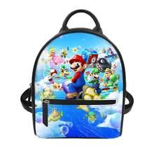 Haoyun pu рюкзак супер Марио узор женские рюкзаки маленькая