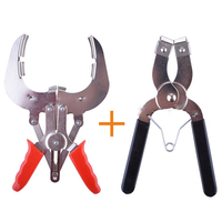 2 Pieces Auto Car Repairs Tools Piston Ring Installer Remover Pliers 53 150Mm+Adjustable Piston Ring Expander Pliers 80 120Mm|Pliers|Tools -