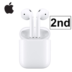 Apple AirPods 2nd with Charging Case Bluetooth Earphone Wireless Bass Earbuds Tones Connect Siri for iPhone iPad Mac Apple Watch