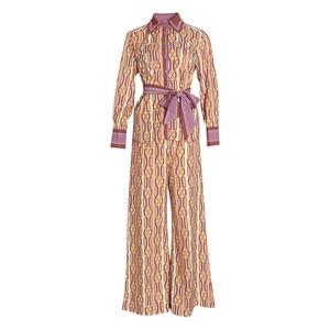 Image 2 - CHICEVER Vintage Womens Suit Lapel Collar Lace Up Lantern Sleeves Shirt High Waist Sashes Long Pants 2 Piece Set Female 2019