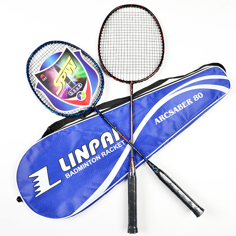 Manufacturers Direct Selling Antarctic Wind Badminton Racket Single Purchase Training Shoot Durable Carbon Racket Men And Women