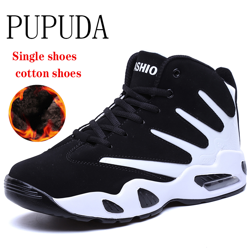 PUPUDA Winter Shoes Men Comfy Sneakers Men Boots Fashion Basketball Cheap Sport Shoes For Male Korean Men Casual Shoes Couple