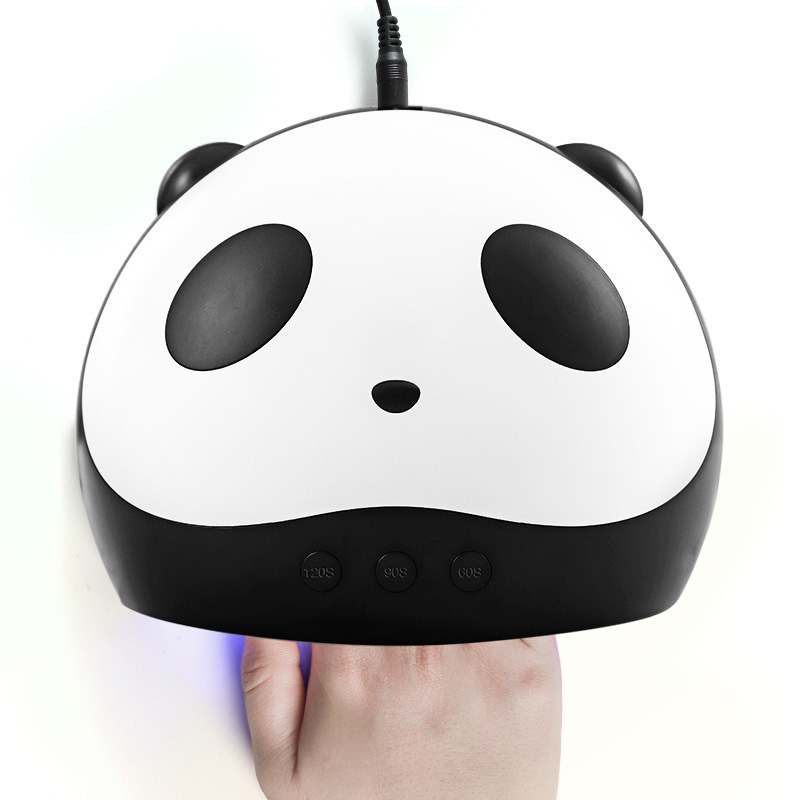 Cute Panda LED Nail Lamp 24W UV Gel Polish Dryer Manicure Lamps USB Charger Nail Art Lamp