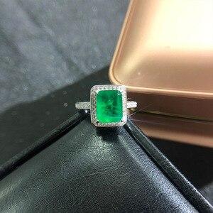 Image 3 - וונג גשם בציר 925 סטרלינג כסף אמרלד חן יהלומי חתונת אירוסין טבעת תכשיטים סיטונאי Drop חינם