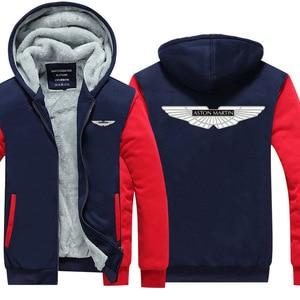 winter Hoodies thicken Aston Martin Sweatshirts Male Streetwear Hoodie coats(China)