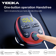 YIBEIKA Car Charger for iPhone Mobile Phone Handsfree FM Tra
