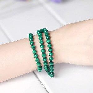 Image 4 - JD 6mm vert Malachite pierre Bracelets 54cm perles de prière islamique musulman Tasbih Allah Mohammed chapelet pour les femmes hommes