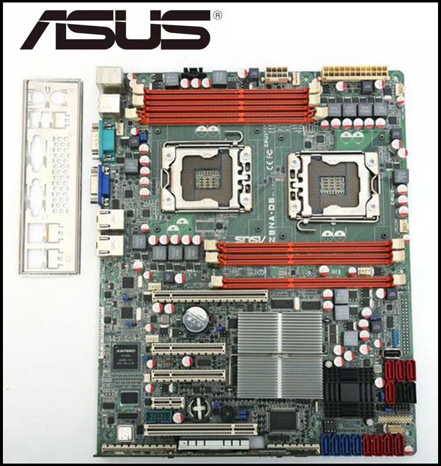 Original ASUS Z8NA-D6 Desktop Motherboard  For Intel LGA 1366 DDR3  Dual 1366 Server Board USED Desktop Mainboard BOARDS PC