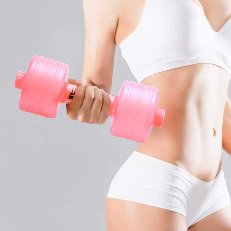 1pcs New Injection Water Dumbbells Women 1kg for Fitness Aquatic Barbell Gym Weight Loss Exercise Equipment Women Comprehensive