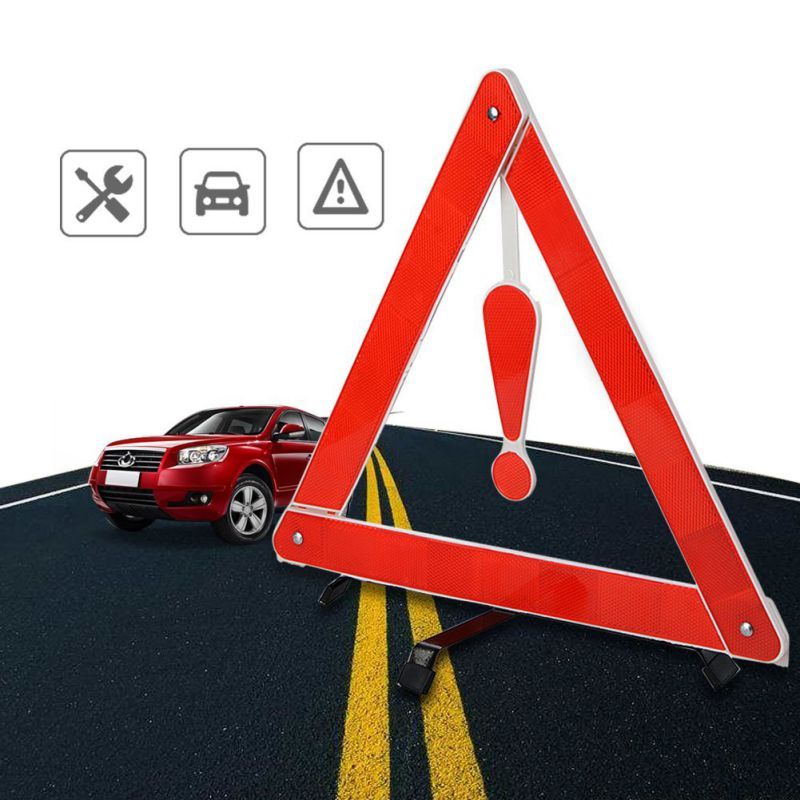 Auto Car or Vehicle Roadside Triangle Reflector Emergency Road Safety need NEW