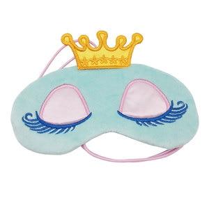 Image 3 - สีชมพูน่ารัก/Blue Crown Sleeping Mask Crown Eyeshade Eye Coverการ์ตูนขนตายาวBlindfoldของขวัญผู้หญิงles