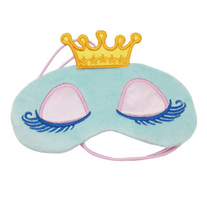 Image 3 - Lovely Pink/Blue Crown Sleeping Mask Crown Eyeshade Eye Cover Travel Cartoon Long Eyelashes Blindfold Gift For Women Girls les