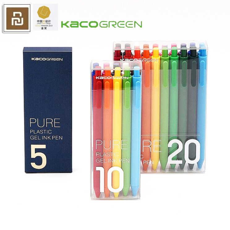 für Xiaomi Mijia KACO Sign Pen Set Gel Pen 0.5 mm Nachfüllen Glatte Schreiben
