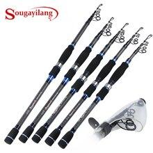 Sougayilang 1.8 3M טלסקופי חכת דיג האולטרה פחמן נייד נסיעות ספינינג דיג מוט פיתוי מוט קרס דיג Pesce