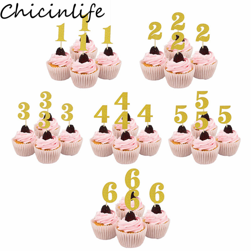 10 Pcs Cake Toppers Creative Fruit Picks for Birthday Party Banquet Baby Shower