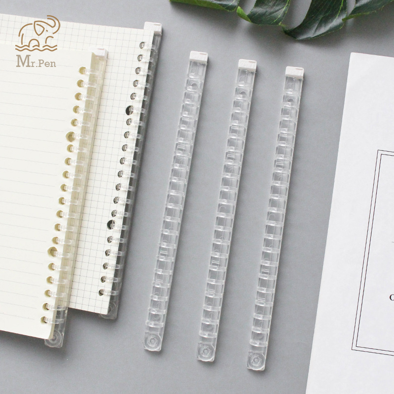 New Transparent Soft Plastic Coil Calendar Binding Coil Notebook Spring Book Ring Wire O Binding A5 B5 Binders Wire Binding