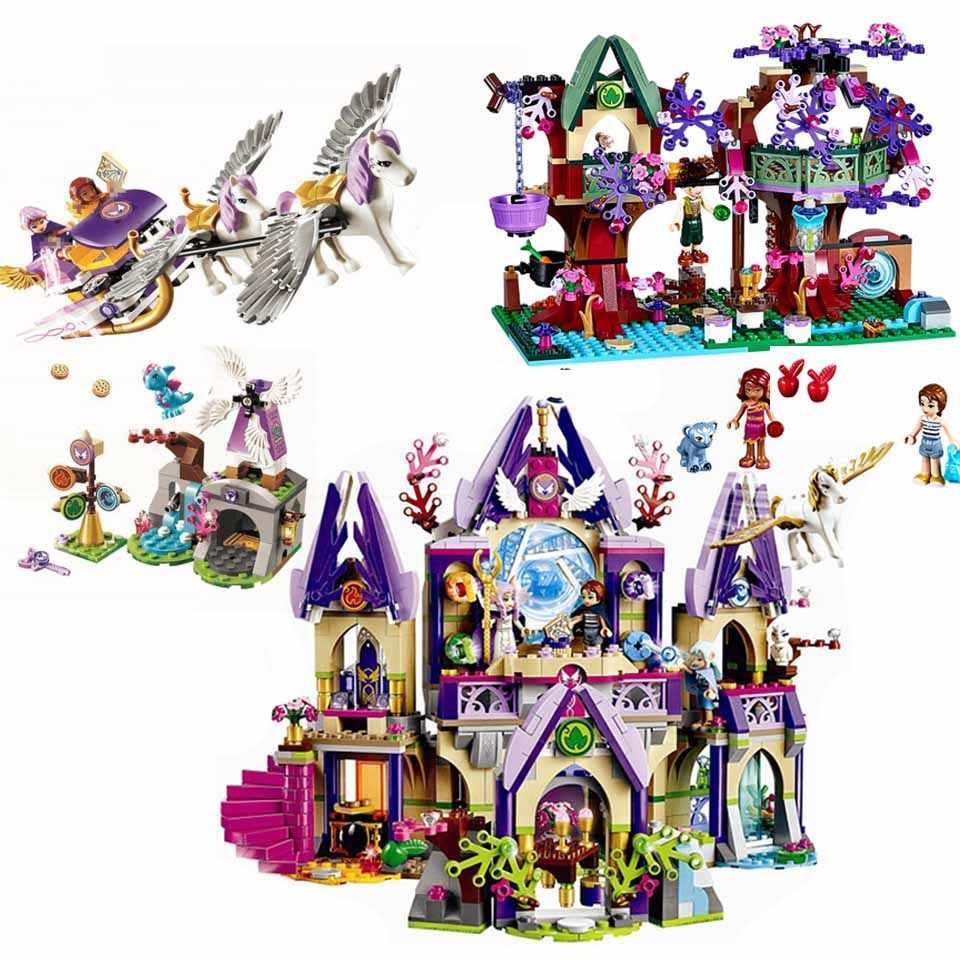 Elfi Cima Hideaway Emily Jones Mattoni da Costruzione Corredi di Costruzione di Modello Giocattolo Per I Bambini Compatibile Legoinglys Serie di Amici