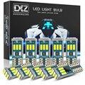 DXZ 10 шт. W5W T10 Светодиодный лампочки Canbus 9-SMD 12V 6000K белый 194 168 салона Карта Потолочные плафоны стояночного света Автоматическая сигнальная ламп...