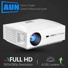 AUN Full HD Projector F30UP, 1920x1080P. Android 6.0 (2G+16G) WIFI, MINI LED Projector for Home Cinema, Support 4K video Beamer(China)