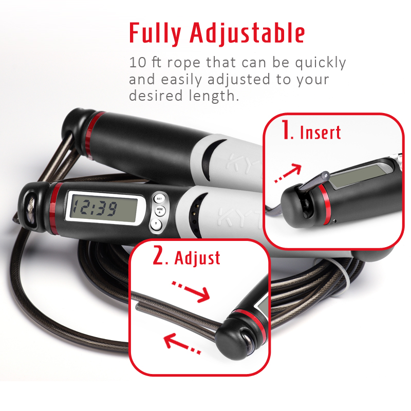 KYTO Skipping Rope with Digital Counter for Indoor/Outdoor Fitness Training and Workout 3