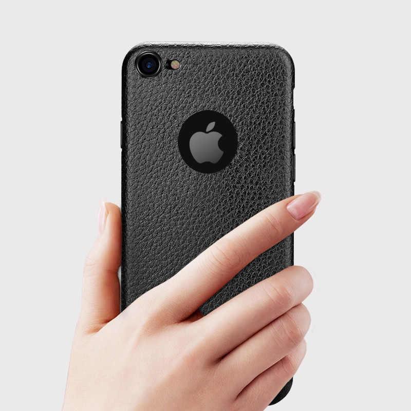 革の高級パターンソフト耐震電話ケース用 × XR XS 最大 8 7 6 6S プラス黒白青赤カバー Carcasas