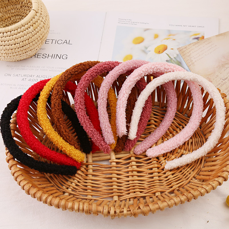 Winter Lambswool Plush Soft Hairbands For Women Girls Hair Holder Sweet Headband Hair Hoops Headwear Fashion Hair Accessories