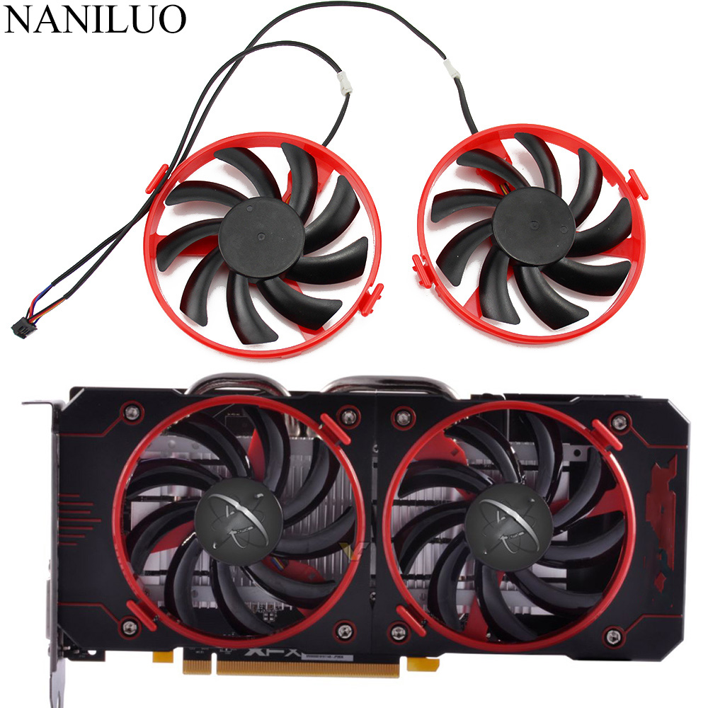 FDC10U12S9-C Cooler Fan Replace RX460 For XFX Radeon RX 460 Double Dissipation Graphics Card Cooling Fan image