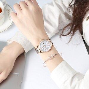 Image 5 - Reloj de Mujer Atieno, regalo de vacaciones, pulsera de cerámica de lujo, reloj de pulsera Para Mujer, Relojes de cuarzo Para Mujer