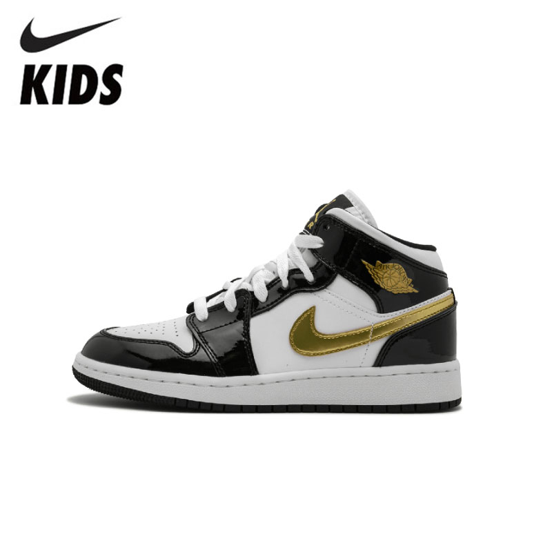 Nike Air Jordan 1 Original  Kids Shoes New Arrival Children Basketball Shoes Comfortable Sports Sneakers #BQ6931-007