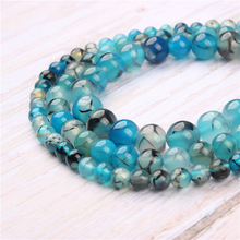 Blue Dragon Agate Natural Stone Beads For Jewelry Making Diy Bracelet Necklace 4/6/8/10/12 mm Wholesale Strand