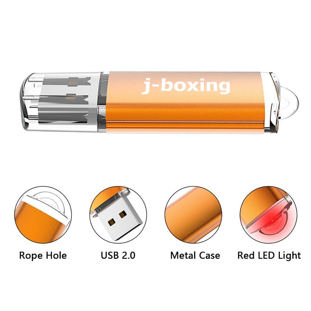 Купить с кэшбэком J-boxing USB Flash Drive 64GB 32GB Pendrive usb2.0 Memory Stick Jump Drive cle usb Storage Flash Drive for Computer 4GB 8GB 16GB
