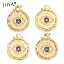 Jewelry-Making-Accessories Pendant Charms Badge Craft Necklace-Making Copper JUYA