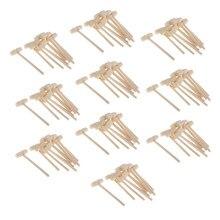 100 peças mini martelo de madeira maletes de madeira para concha de lagosta de frutos do mar