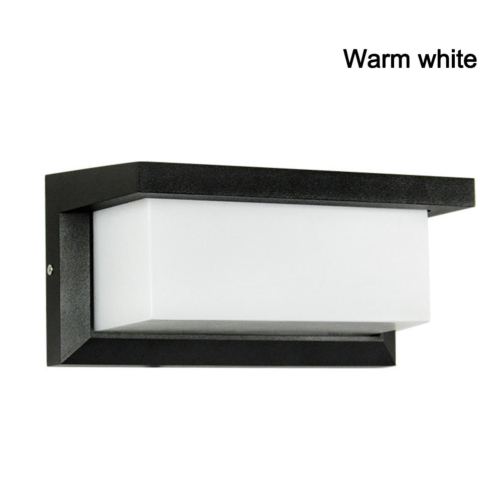 IP55 12W LED Outdoor Wall Light Wall Mounted Modern Lamp AC85 265V Waterproof Outdoor Lighting For Garden Home|Outdoor Wall Lamps|Lights & Lighting - title=